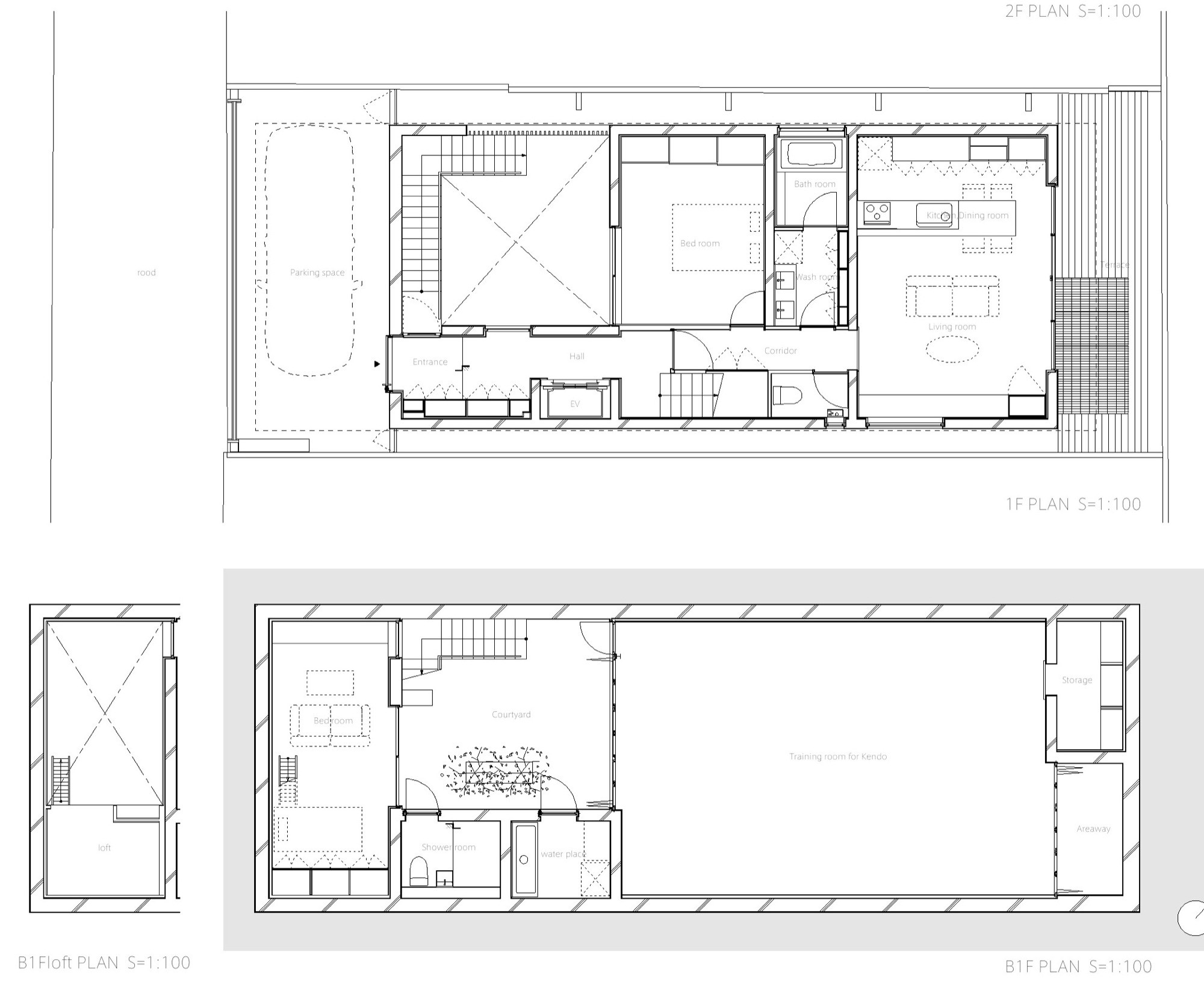 Gallery Of Triplex House In Nakano LEVEL Architects 17