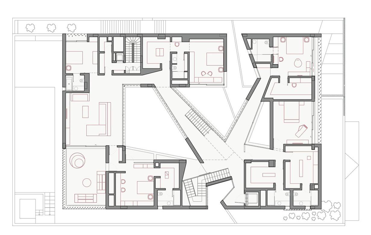 Gallery of secret house agi architects 13 for Modern house design kuwait