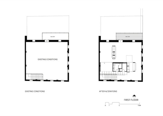 First Floor Before & After Plan