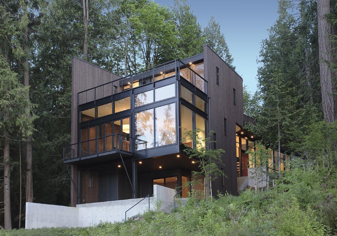 Flowing Lake Residence / David Vandervort Architects, © Mark Woods Photography