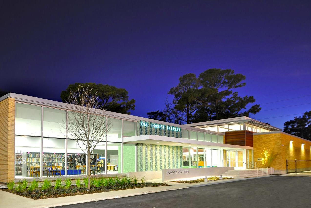Oak Forest Library / Natalye Appel  + Architect Works, Inc., + James Ray Architects, Courtesy of  natalye appel + associate architects