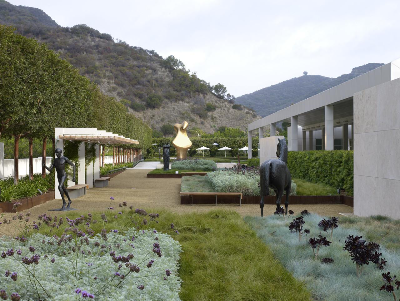 Fran And Ray Stark Sculpture Garden J Paul Getty Center
