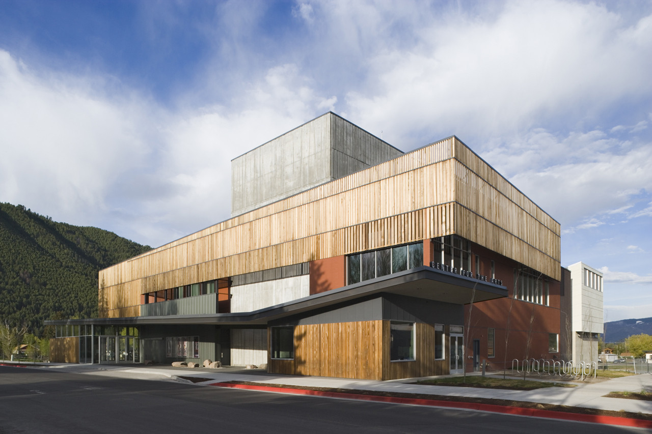 jackson hole center for the arts performing arts pavilion stephen dynia architects arts. Black Bedroom Furniture Sets. Home Design Ideas