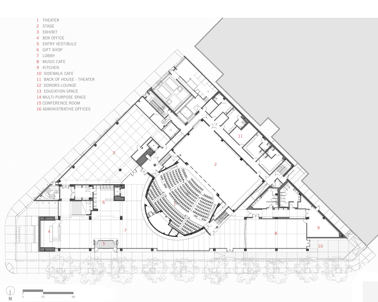 Gallery of august wilson center for african american for Traditions of america floor plans