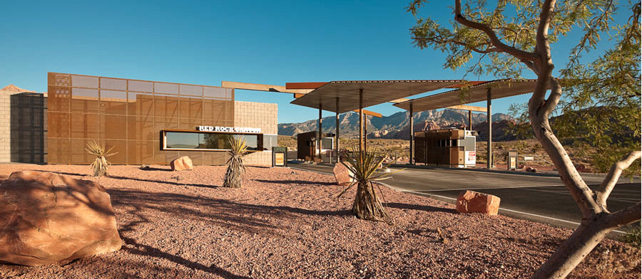 Red Rock Canyon Visitor Center / Line and Space, © Robert Reck
