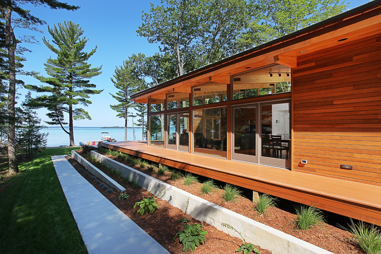 Higgins Lake House / Jeff Jordan Architects, © Jeff Garland Photography