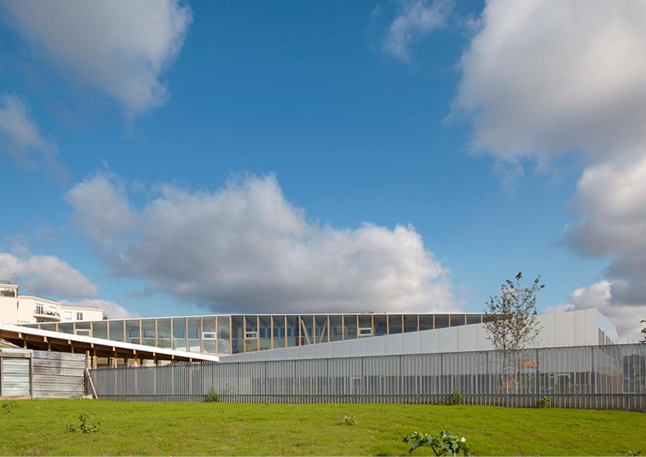 School Complex at Le Bourget / Hubert & Roy Architectes, © Hérvé Habbadie