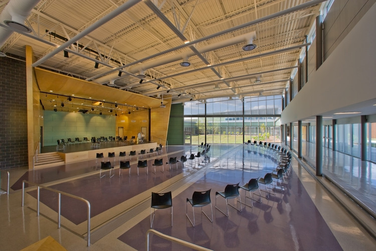 Interior Design Schools In Illinois Colin Powell Middle School  Legat Architects Inc Archdaily