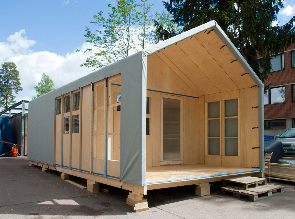 Liina Transitional Shelter / Aalto University Wood Program, Courtesy of  aalto university wood program