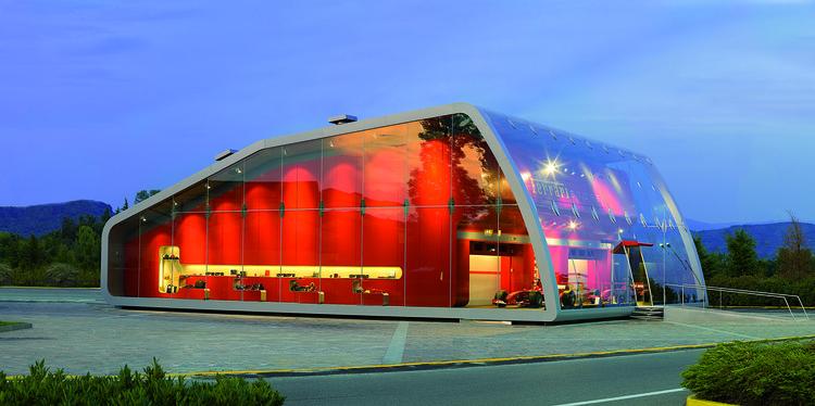 Delightful Ferrari Factory Store / Iosa Ghini Associates, © Gianluca Grassano Design