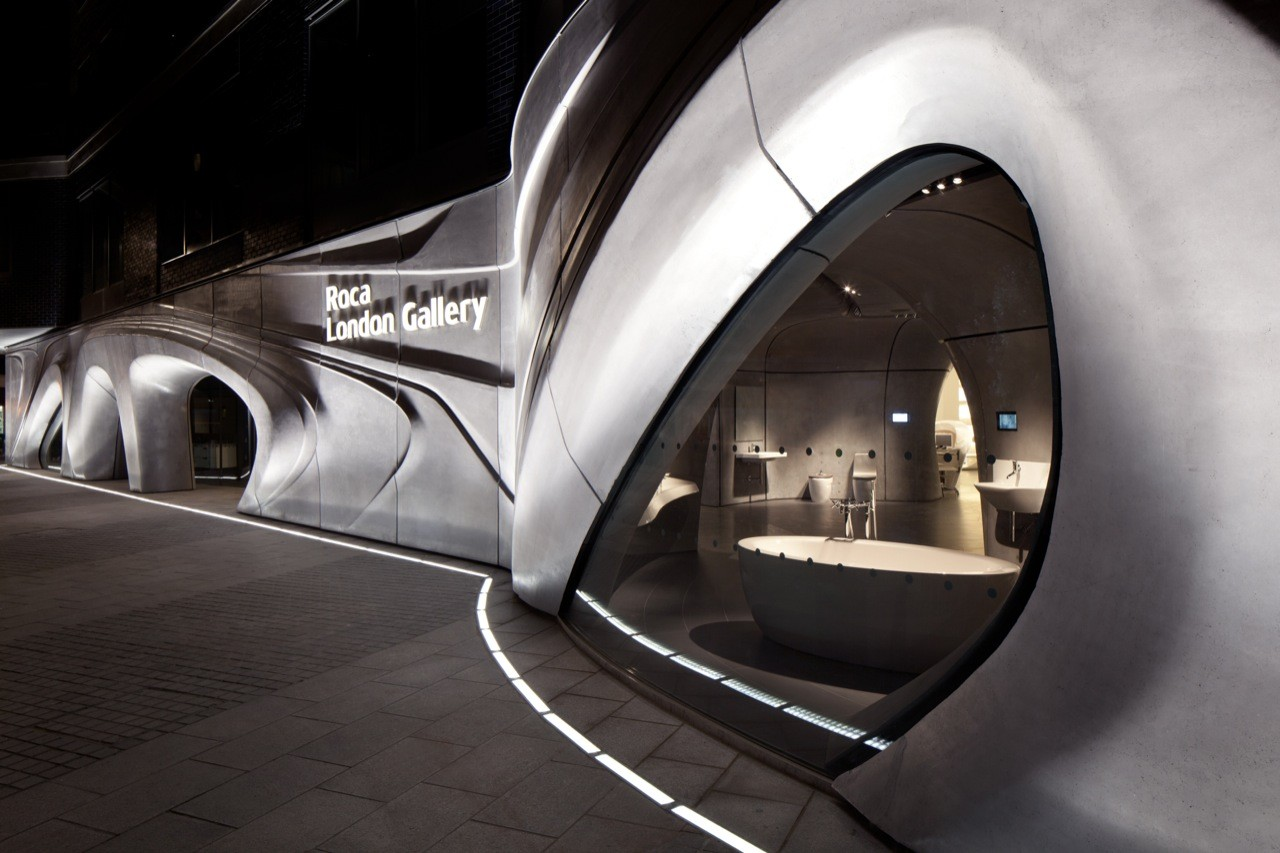 Roca London Gallery Zaha Hadid Architects Archdaily