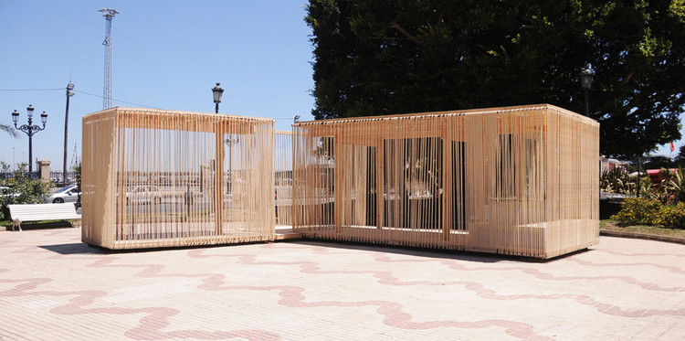 Cadiz Temporary Pavilion / Breathnach Donnellan with EASA Participants, Courtesy of  avanzada workshop team