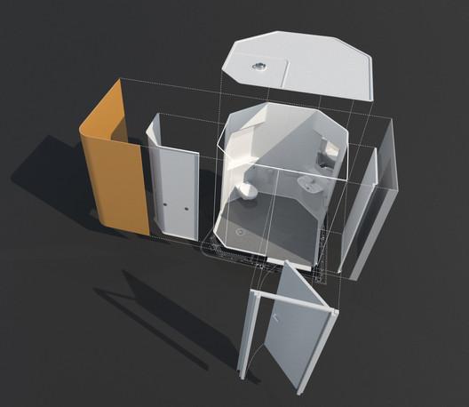 bath pod 3d view