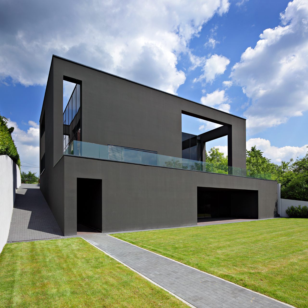 Gray Small House Exterior