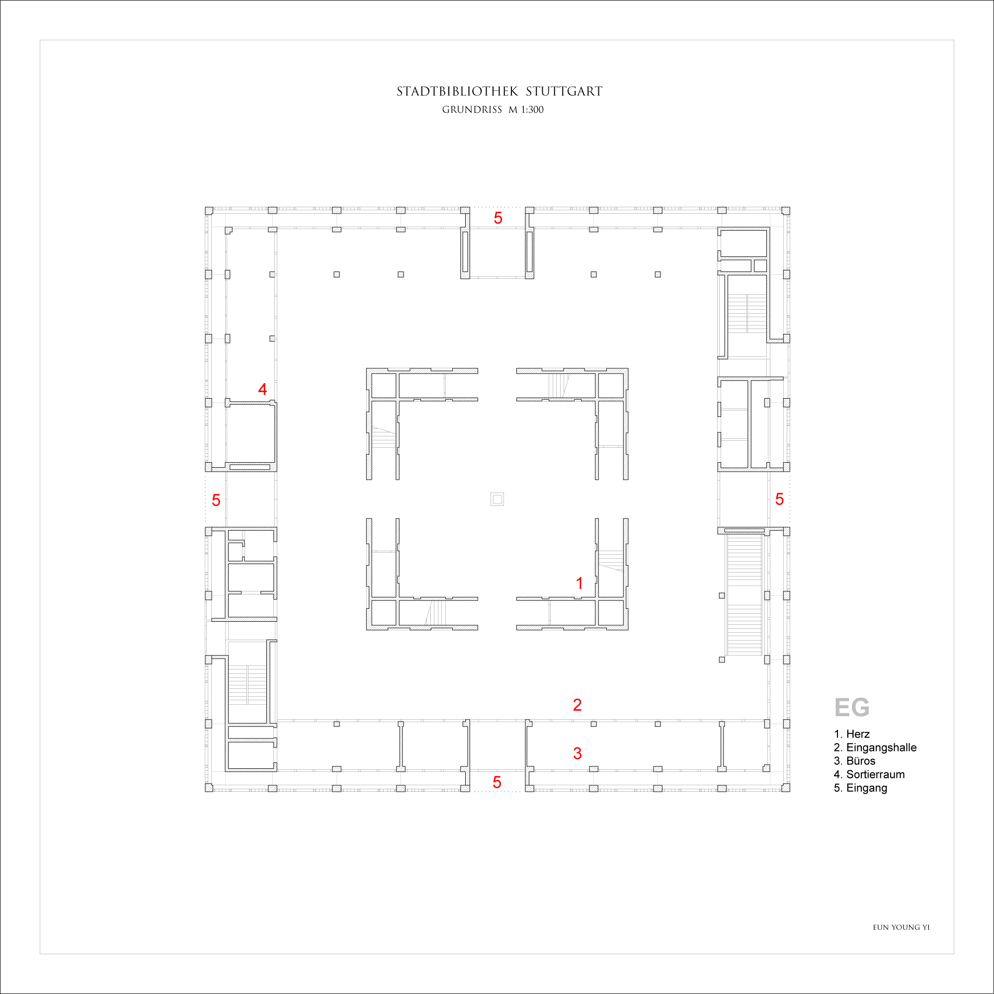 Gallery Of Stuttgart City Library Yi Architects 6
