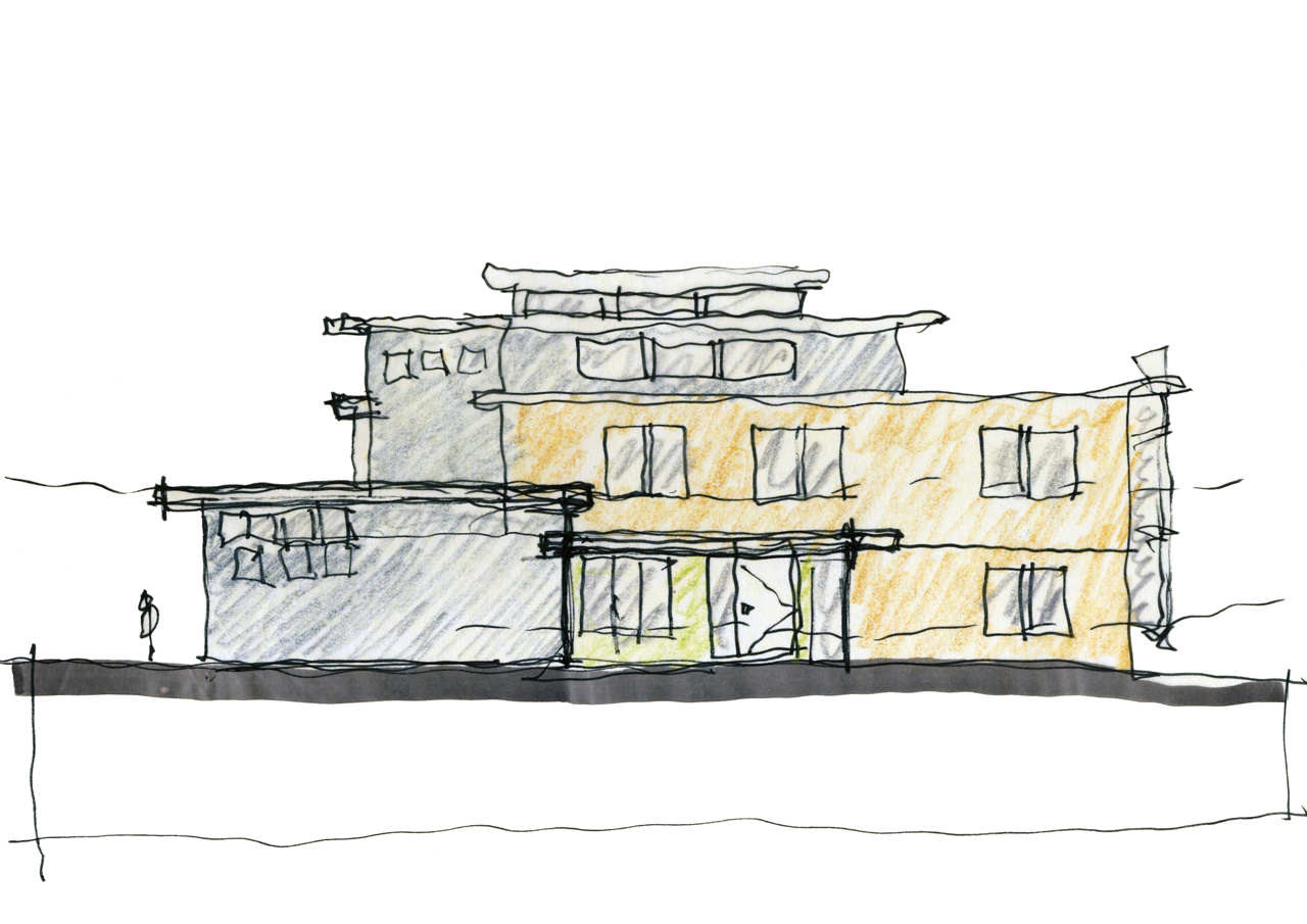Front Elevation Sketch : Gallery of lakefront residence moore architects