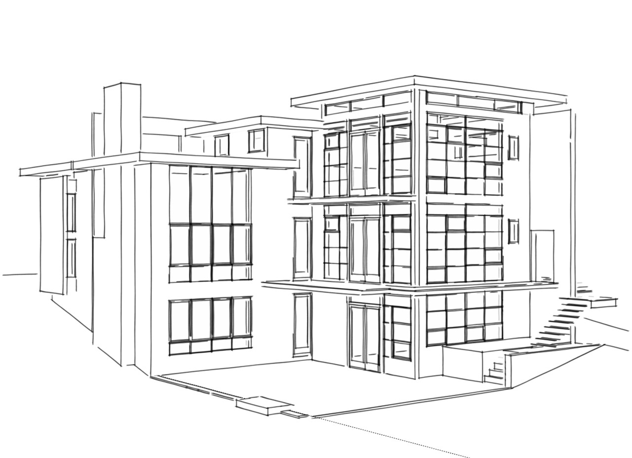 Line Drawing Of Your House : Gallery of lakefront residence moore architects