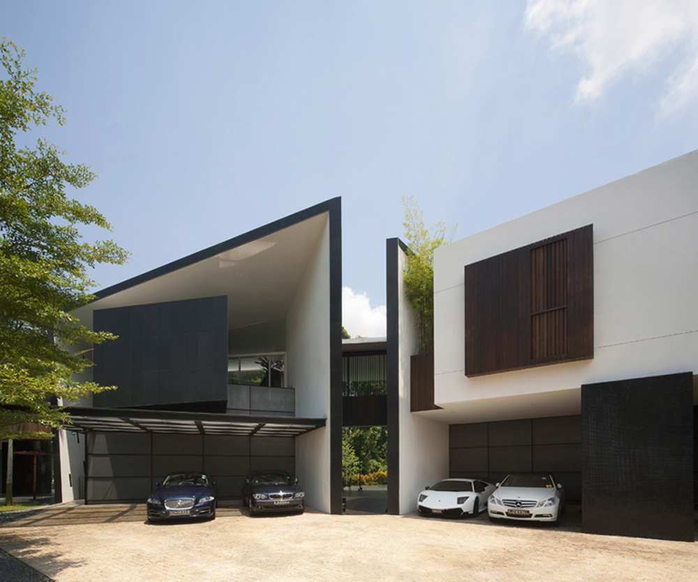 Black Amp White House Formwerkz Architects Archdaily