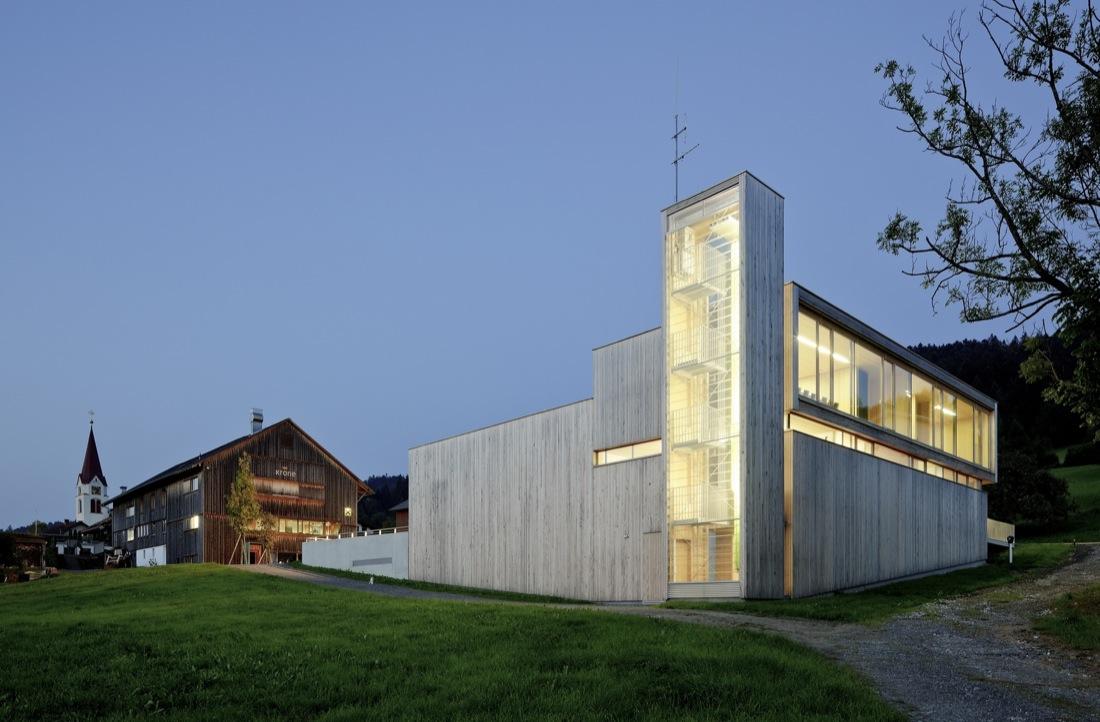 Fire Station In Sulzberg-Thal / Dietrich | Untertrifaller Architekten, © Bruno Klomfar