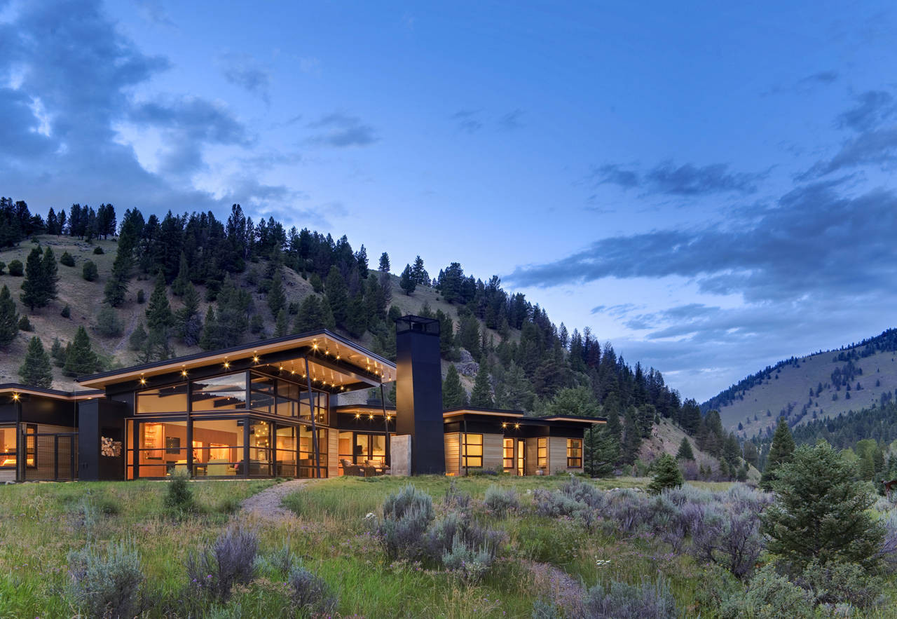 River Bank House / Balance Associates Architects, © Steve Keating Photography