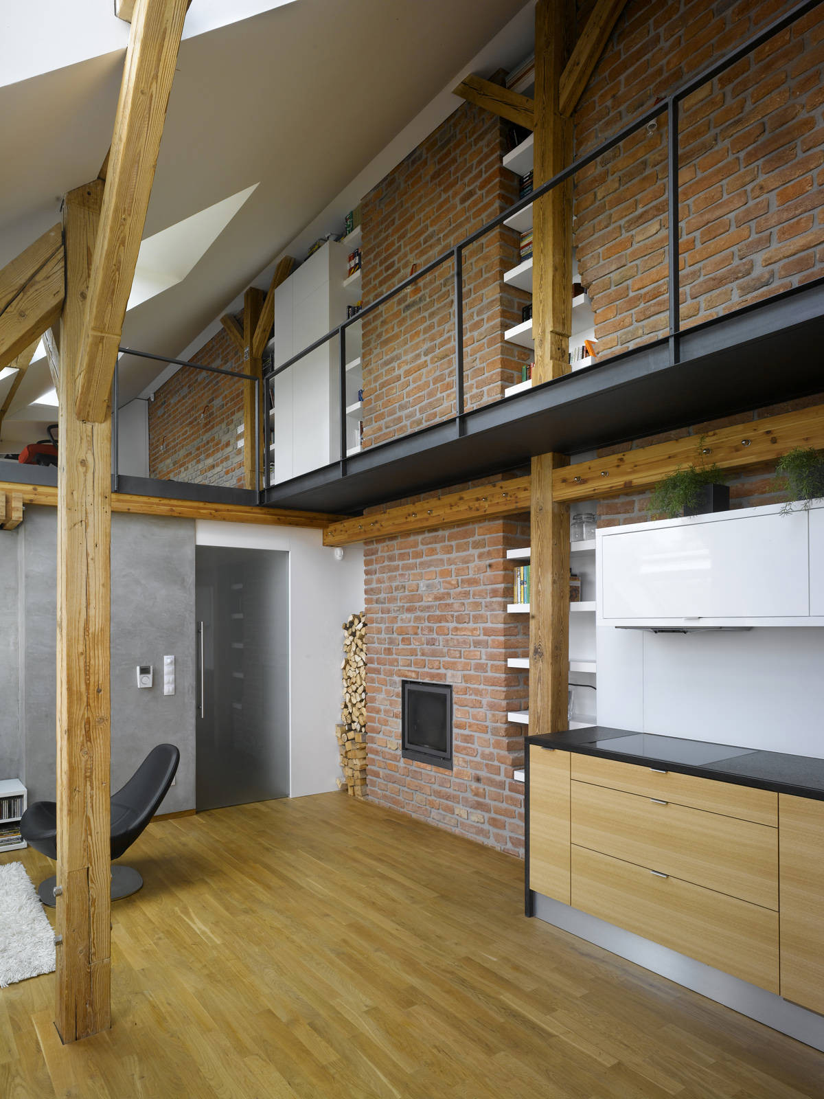 Studio Apartment Vs Loft mini-loft apartment in prague / dalibor hlavacek | archdaily