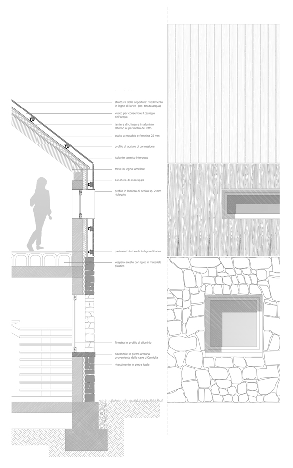 Gallery of rifugio monte penna lucio serpagli 13 for Construction drawings and details for interiors