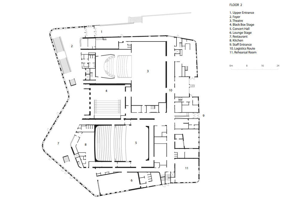 Gallery of spira performing arts center wing rdh for Arts and crafts floor plans