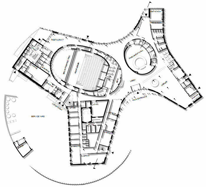 Gallery of sami cultural center sajos halo architects 13 for Site plan dimensions
