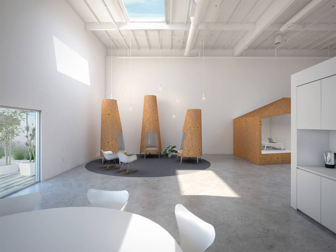 Gallery of hybrid office edward ogosta architecture 5 for Architecture hybride