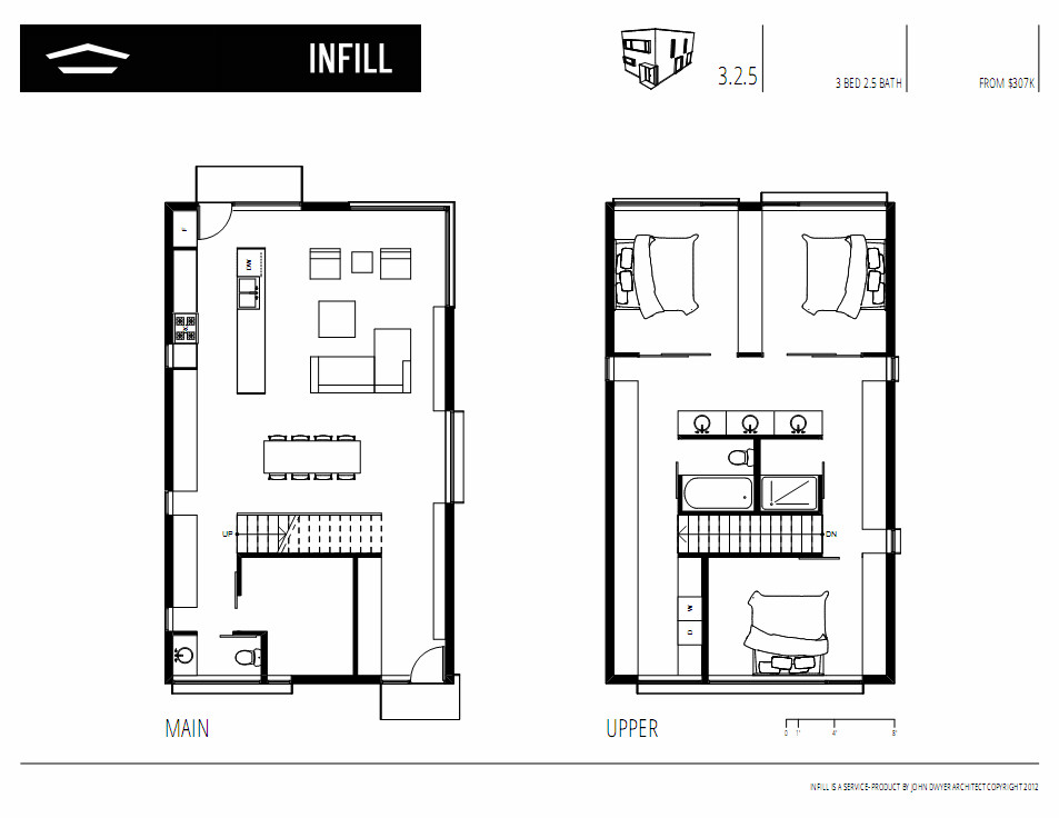 Gallery of infill john dwyer architect 11 for Infill home plans