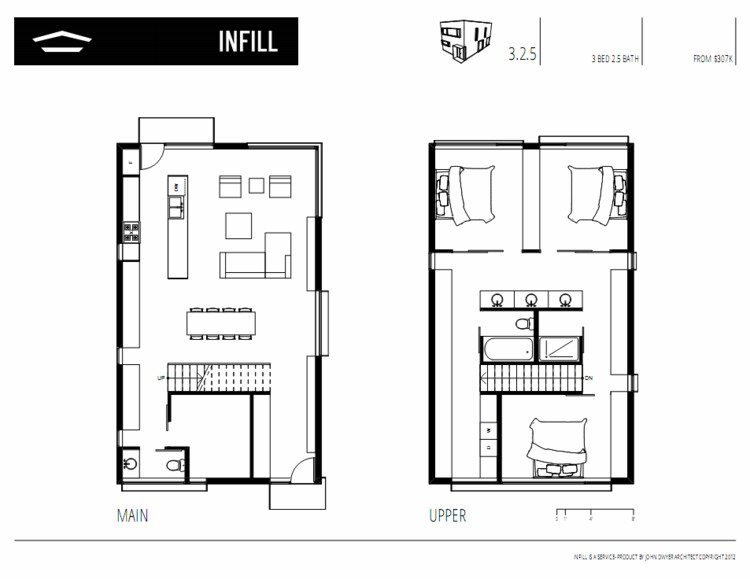 Infill john dwyer architect archdaily for Infill home plans