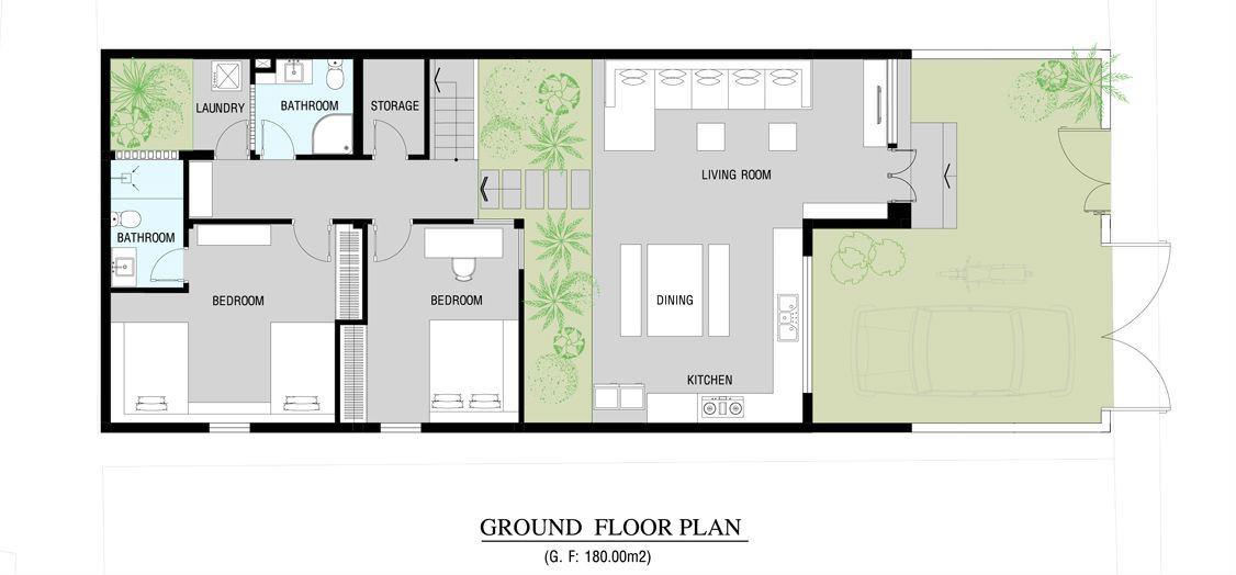 48338d1348167729 Basic Floor Plans Modern Setting: Gallery Of House In Go Vap / MM++ Architects