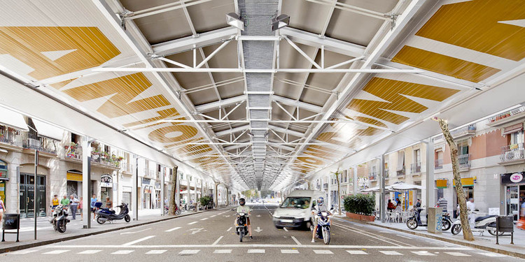 Sant Antoni Sunday Market / Ravetllat Ribas Architects, © Adrià Goula