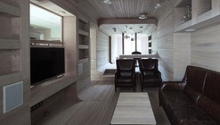 "Smolenka ""Oak Tube'' Apartment / Peter Kostelov"