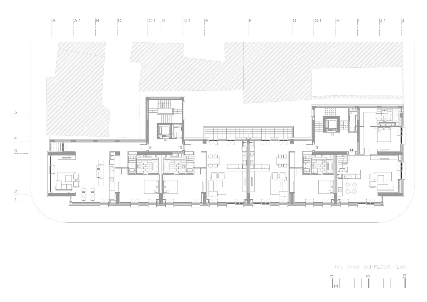 Apartment Building On G Călinescu Street Westfourth Architecture Floors Plan