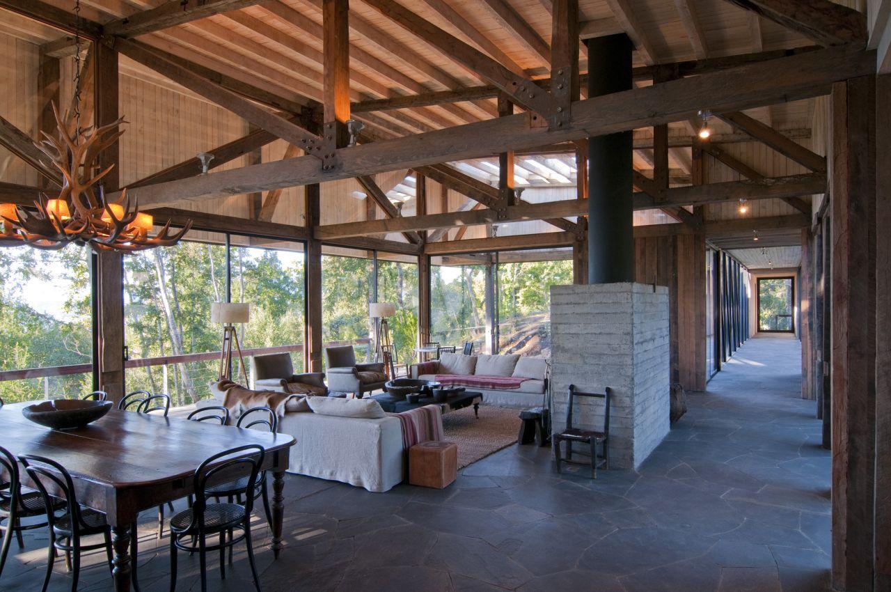 Gallery of casa ranco elton l niz arquitectos asociados 9 - Decoracion rustica moderna ...