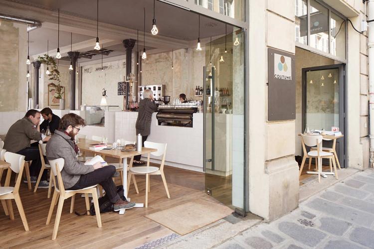 Coutume Café 47 Rue De Babylone / CUT Architectures, © David Foessel