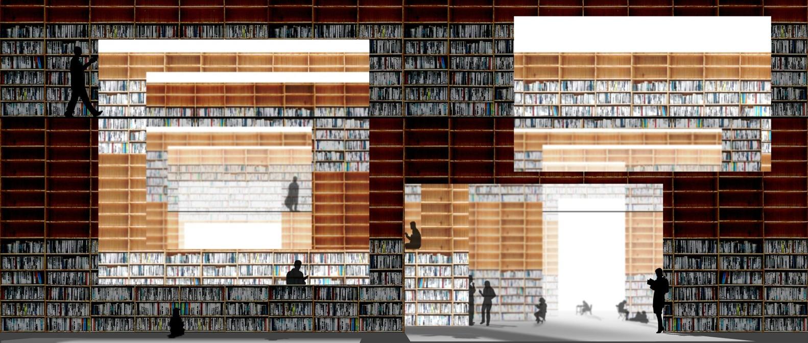 gallery of musashino art university museum library sou fujimoto