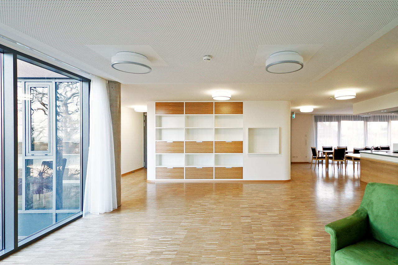Gallery of Veronica House Elderly Care Facility / f m b architekten on house designs for retirement, house plans with separate garages, house designs for handicapped, house designs for home, house plans for elderly,