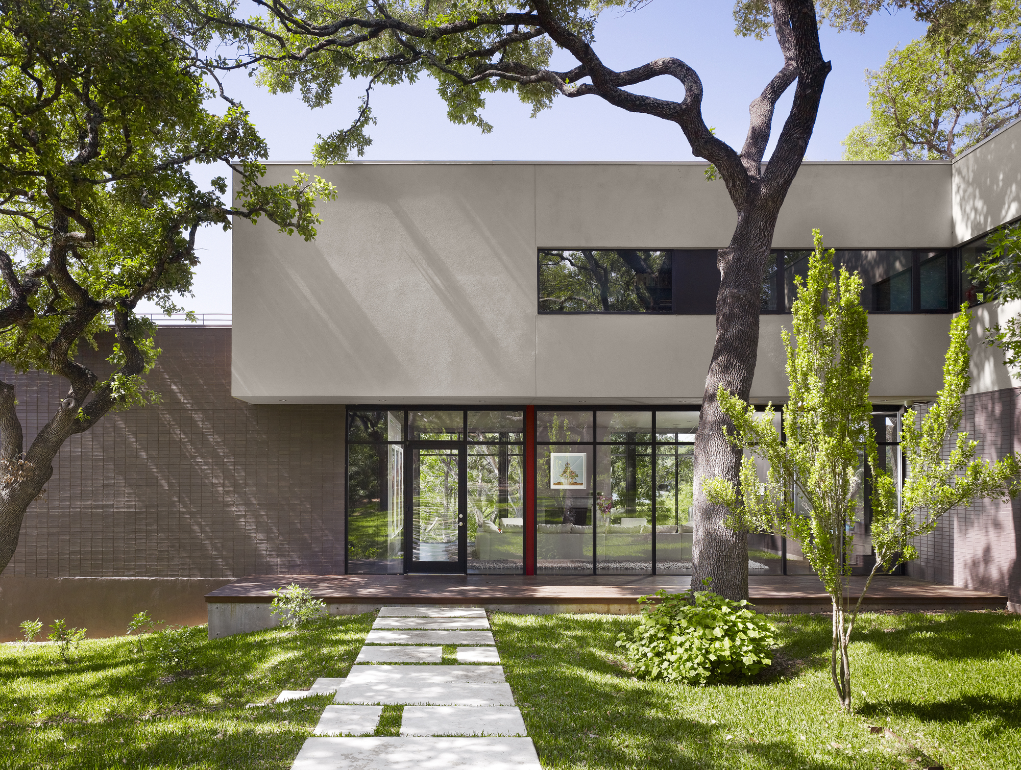 West lake hills residence specht harpman archdaily - Exteriores tropicales ...