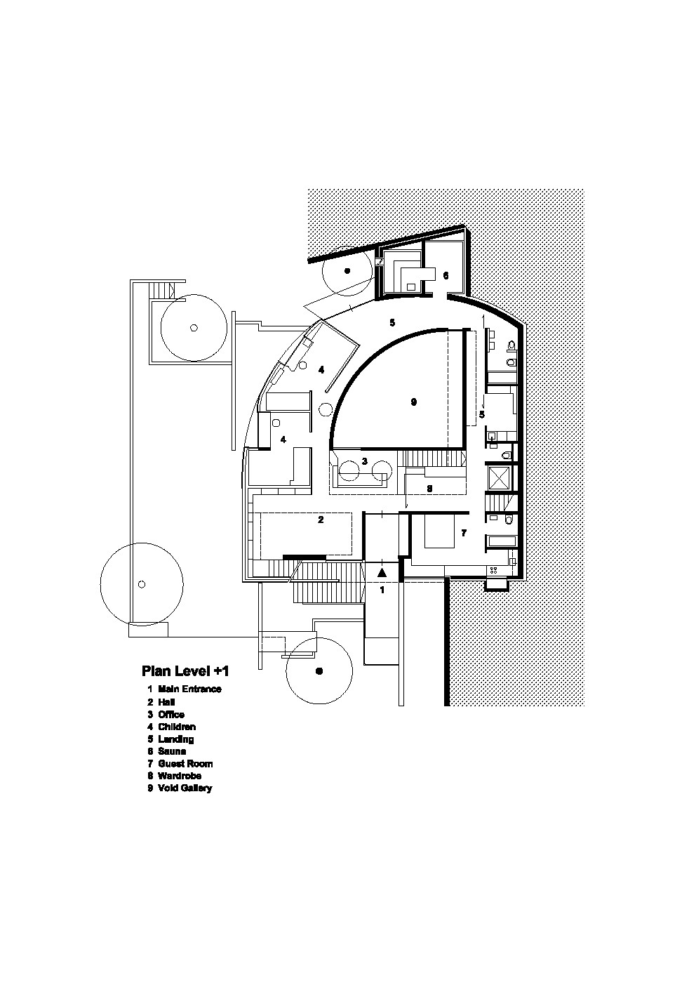 House D / Pauhof Architekten. Plan