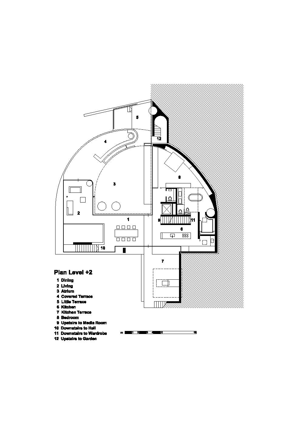 Exceptional House D / Pauhof Architekten. Plan