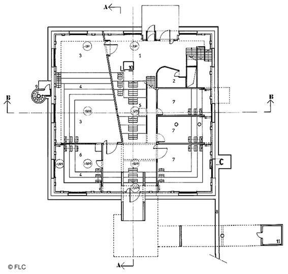 Plan De La Villa Church Le Corbusier