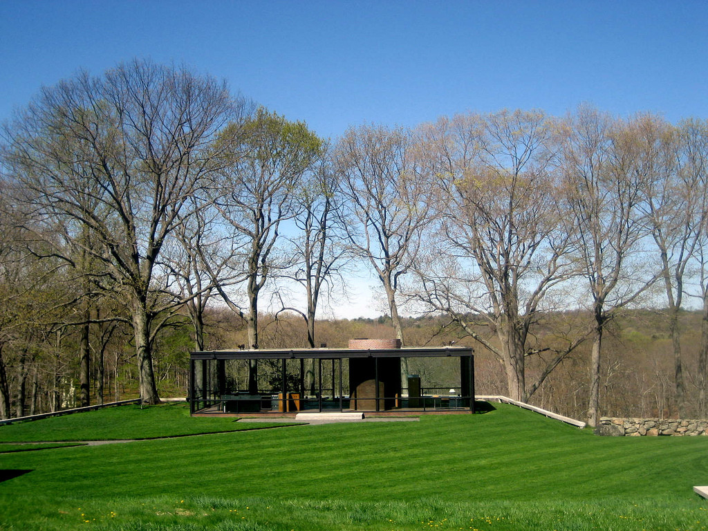 Ad classics the glass house philip johnson archdaily for The glass house plan