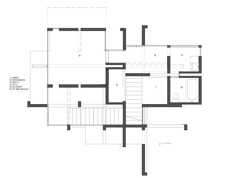 AD Classics: House VI / Peter Eisenman,© sketchygrid.com