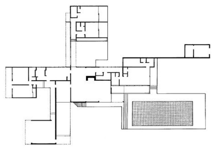AD Classics Kaufmann House Richard Neutra – Richard Neutra Kaufmann House Floor Plans