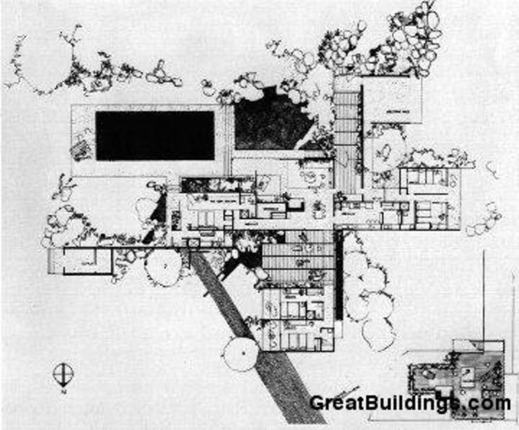 Ad classics kaufmann house richard neutra archdaily for Kaufmann desert house floor plan