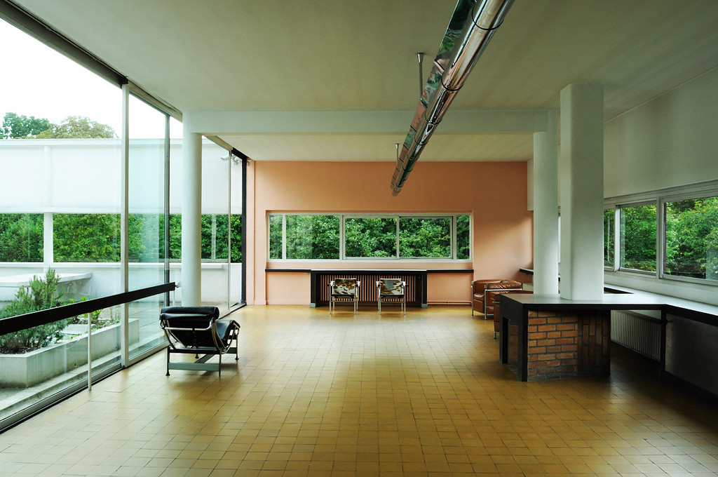 gallery of ad classics villa savoye le corbusier 7. Black Bedroom Furniture Sets. Home Design Ideas