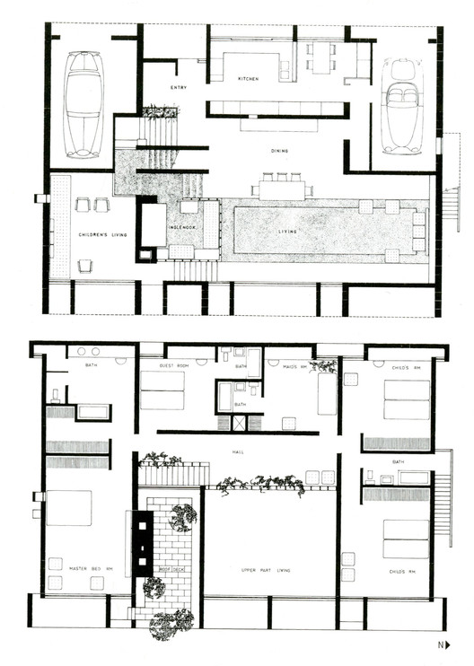 Ad classics milam residence paul rudolph archdaily for Adhouse plans