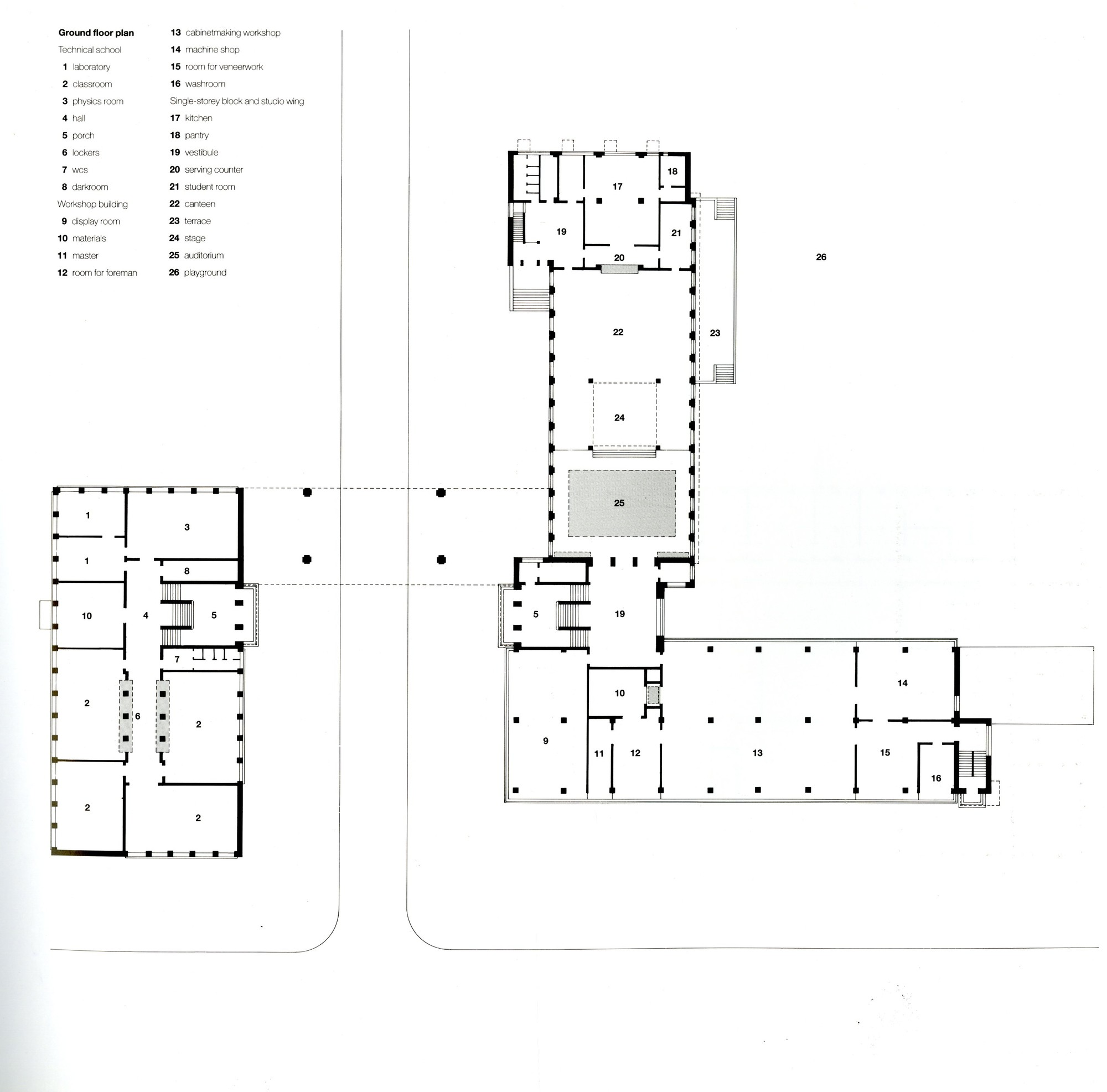 gallery of ad classics dessau bauhaus walter gropius 17. Black Bedroom Furniture Sets. Home Design Ideas